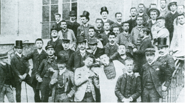 In 1881, HEC Paris first class intake - a matriculation ceremony in top hats
