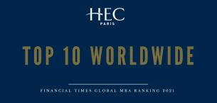 巴黎HEC新闻: 新闻   HEC跃居《金融时报》2021全球MBA排名第七