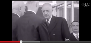 HEC Paris history: Inauguration of the campus by General de Gaulle