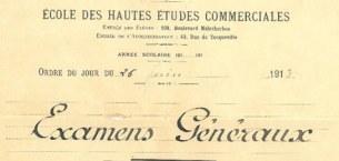 巴黎HEC历史: HEC重启入学考试
