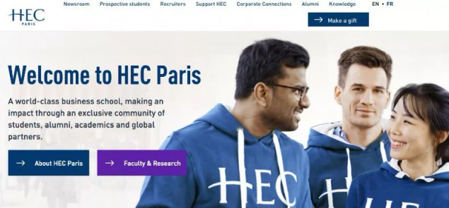 HEC Paris news: The new HEC Paris website is now online!