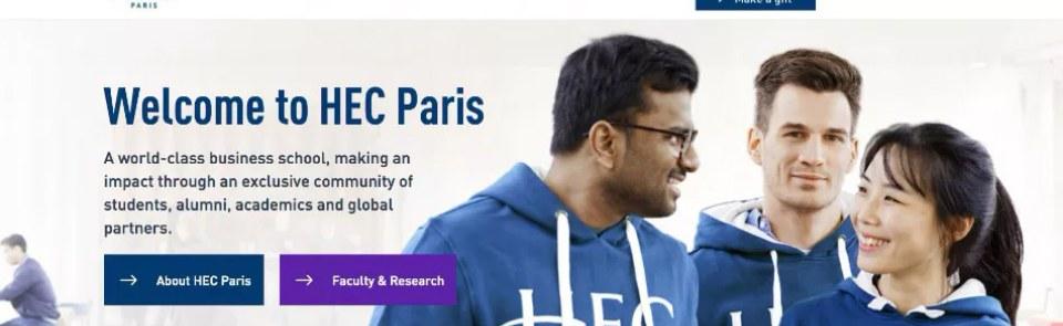 HEC Paris news: The new HEC Paris website is now online!